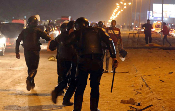 Officials: 25 people killed in Egyptian soccer match riot