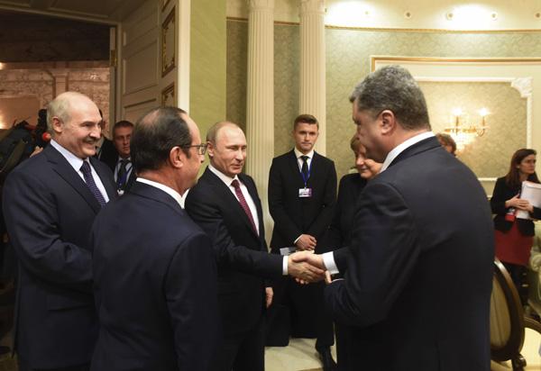 Leaders hold Ukraine peace talks as fighting surges