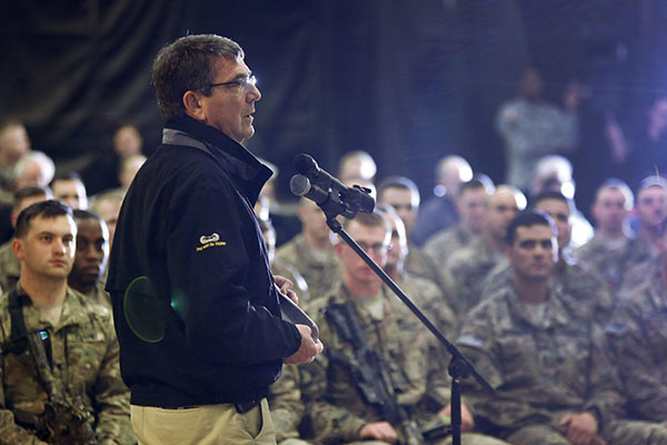 Pentagon chief: Training Afghan forces key to US mission