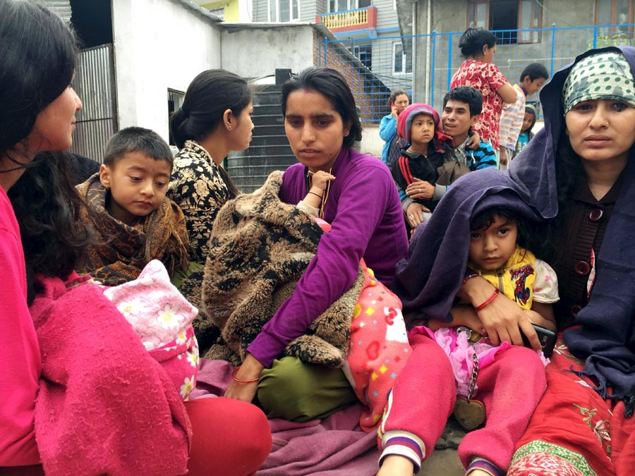 In photos: Strong earthquake strikes Nepal