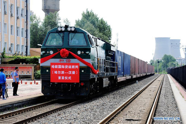 China launched its first cargo train to London. It will take 18 days for the train to reach London from departure point at Yiwu West Railway Station