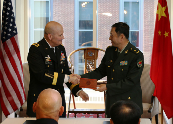 China, US sign agreement to boost army cooperation
