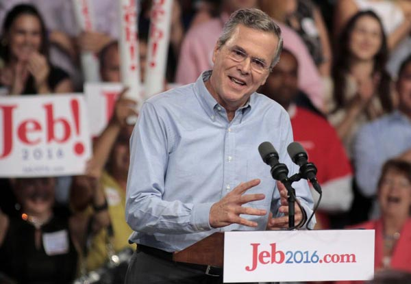 Jeb Bush vows to 'fix' Washington as he launch