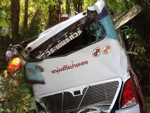 At least 13 tourists killed in bus crash in Thailand[1
