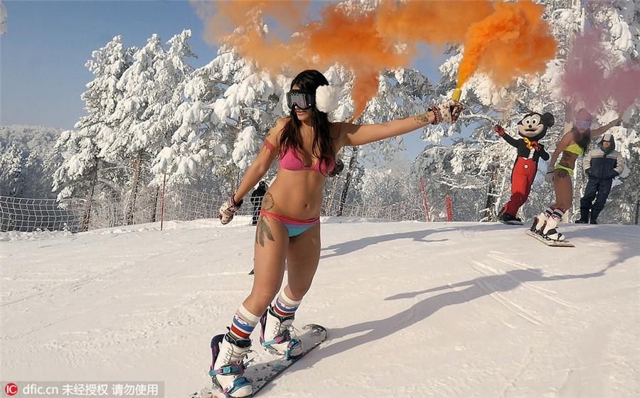 Russian girls in bikini
