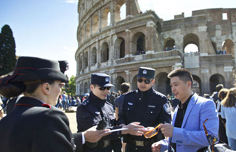Sino-Italian police patrols launched in Italy[1]- Chinadaily com cn