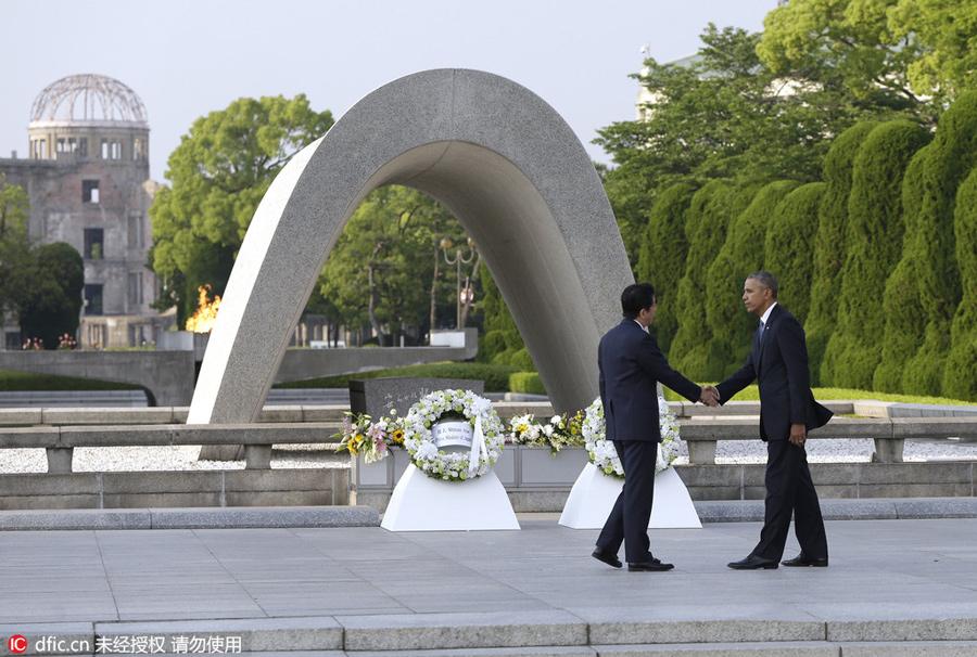 赌博网:奥巴马在广岛和平公园的历史性访问