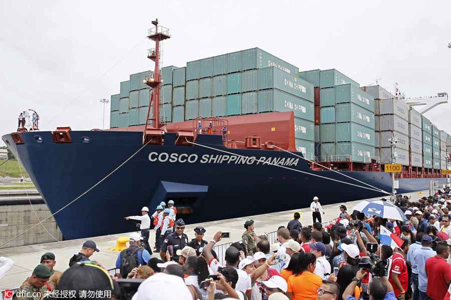 expanded panama canal opens with chinese ship making first passage