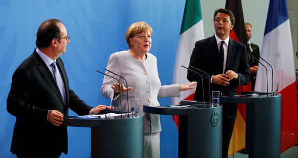 Germany, France, Italy urge Britain not to waste time in divorcing EU