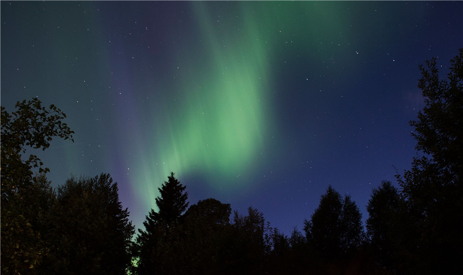 Northern Lights Illuminate Swedens Skies1 Chinadailycn