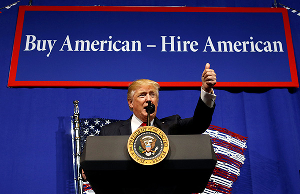 Trump signs 'Buy American, Hire American' executive order