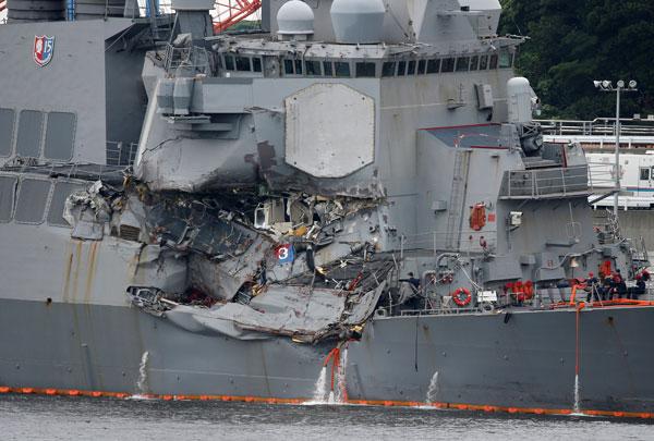 Seven missing sailors found dead aboard stricken US