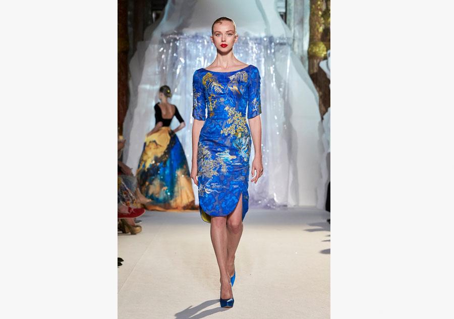 Top designer presents  shanshui  creations at Paris week. Top designer presents  shanshui  creations at Paris week 5