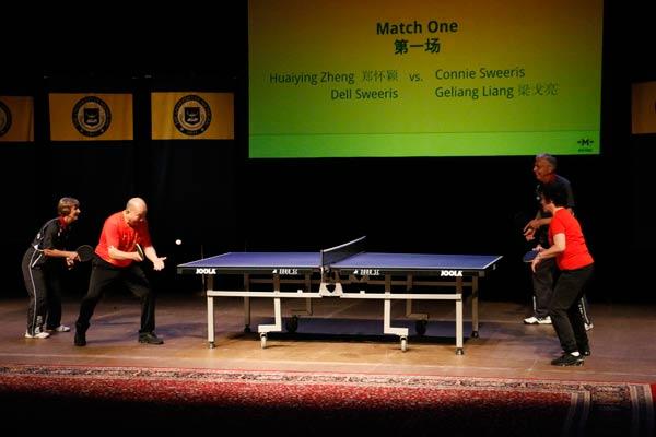 Ping-pong diplomats reunite