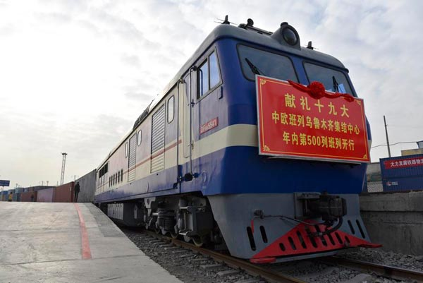 700 China-Europe freight trains to depart Xinjiang in 2017