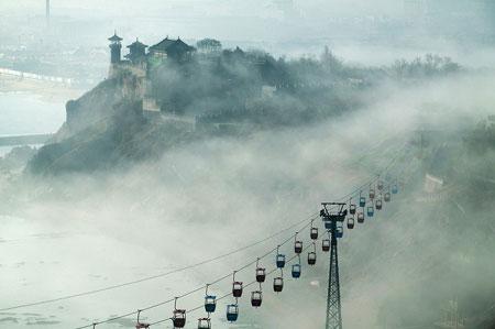 山东蓬莱海市蜃楼,每年出现几次 ,那个月份出现的多,这个月份的多少号