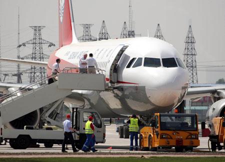 空中客车天津总装厂首架a320飞机成功首飞
