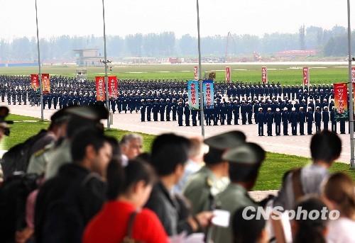 國慶閱兵訓練: