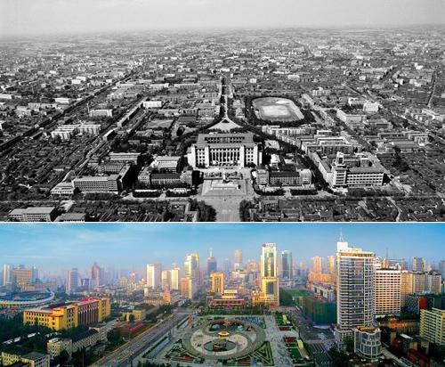 """四川省成都市的重大活动,""""今日成都——新中国成立60周年图片展""""吸引"""