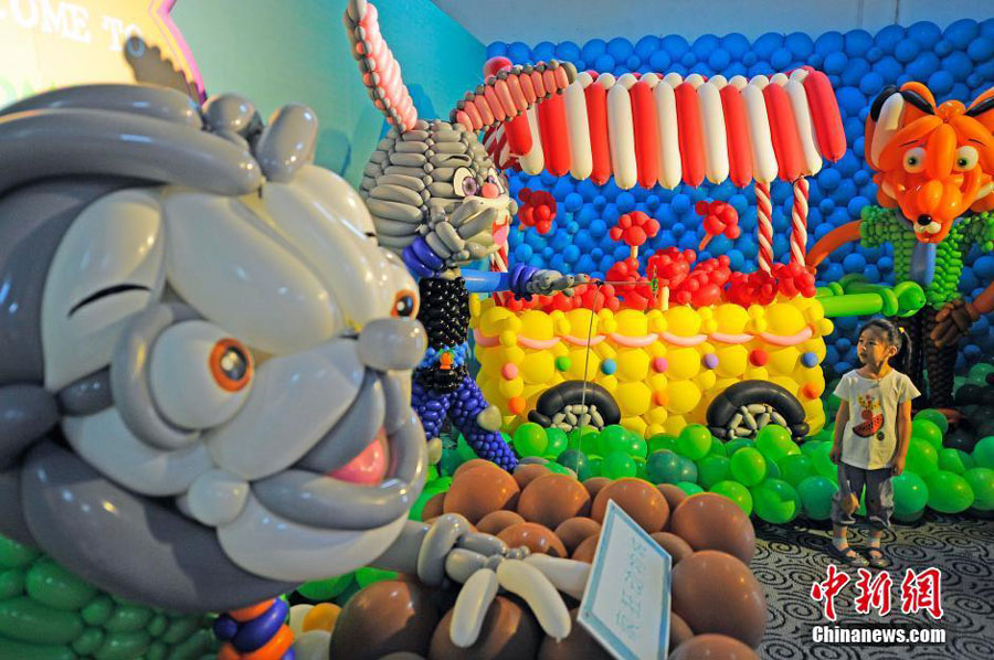 Asia's largest 4D balloon exhibition opens in Tianjin