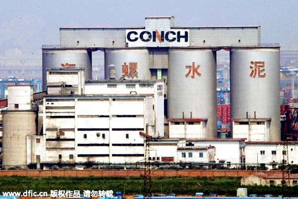 Top 10 cement producers in China