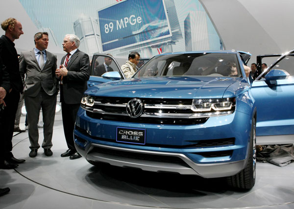 Volkswagen Of America >> Vw Unveils Crossblue Concept Suv At N America Auto Show 2