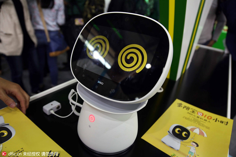 A Robot For Children On Display During Ongoing Ces Asia 2016 In Shanghai May 11 The Three Day Lowered Curtain Wednesday At