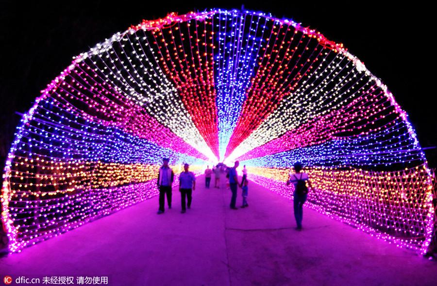 Led Lights Shine In Zhangjiakou 1 Chinadaily Cn