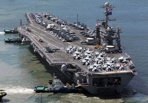 air craft carrier us rok drill in yellow sea by early sept 1031