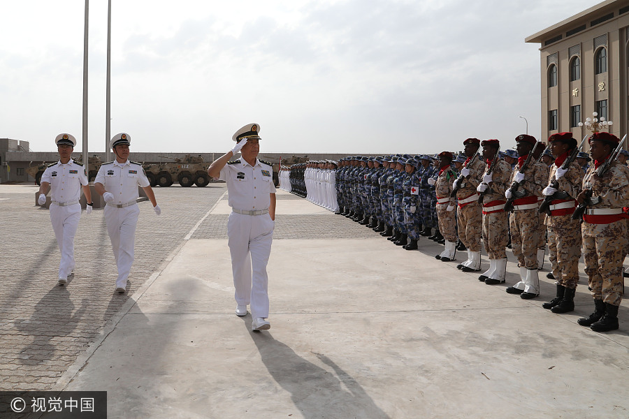 Nation opens logistical base in Africa