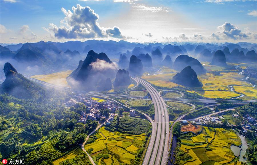 Breathtaking beauty along the 'road to heaven'