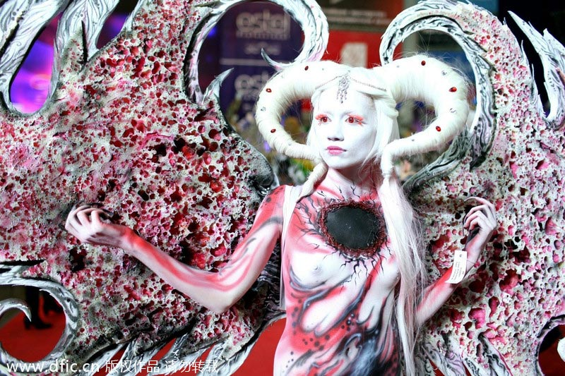 Art Of Body Painting Showcased In Russia 2 Chinadaily Com Cn
