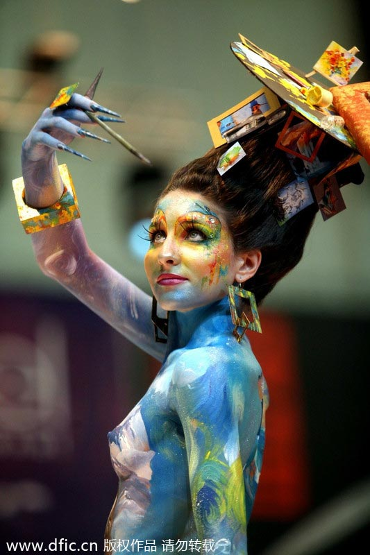 Art Of Body Painting Showcased In Russia 1 Chinadaily Com Cn