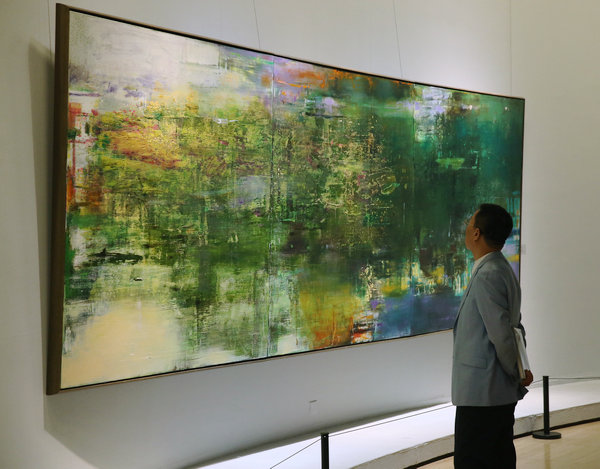 Abstract Art Mixes Local Western Styles 1 Chinadaily Com Cn