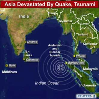 Image result for a tsunami kills more than 200 thousand in southeast asia
