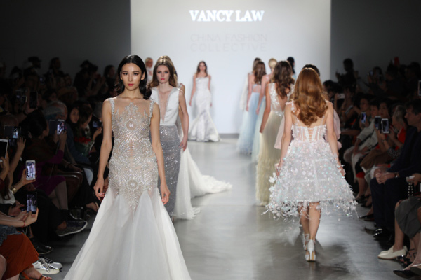 Chinese Bridal Designers Debut At New York Fashion Week Lifestyle Chinadaily Com Cn
