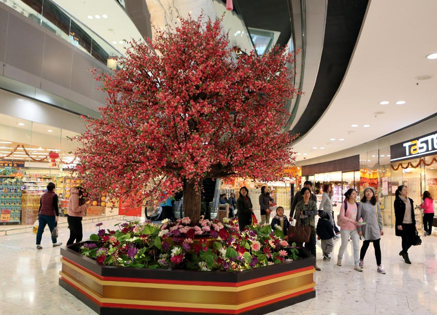 Chinese new year 2016 decoration ideas for office home design 2017 - Magnificent new year office decoration ...