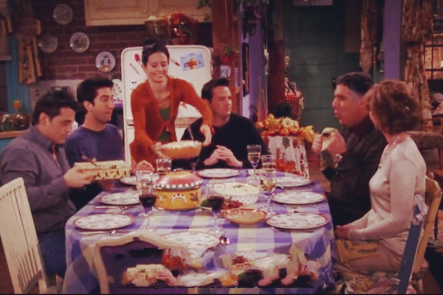 Thanksgiving Day with friends on 'Friends'[6]- Chinadaily.com.cn