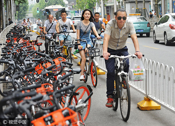 Tidy parking key to shared bikes' expansion