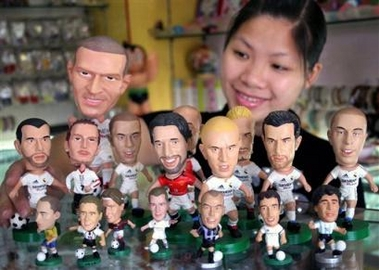 Footballer dolls swarm into China market