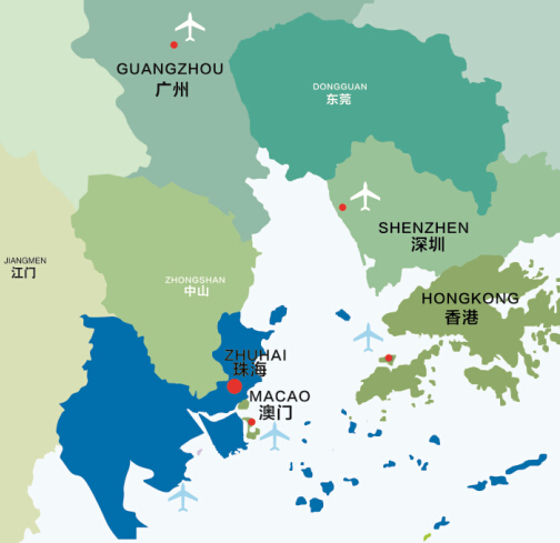 Zhuhai China Map Zhuhai's sketch map   China   Chinadaily.com.cn