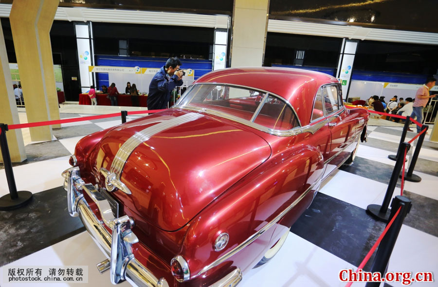 Classic cars at Sanya tourism trade expo |News ...