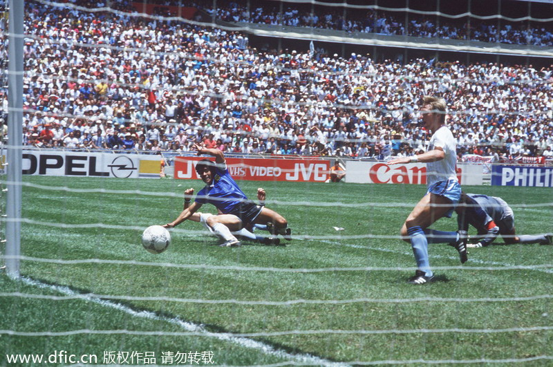 Classic goals in World Cup history[11]- Chinadaily.com.cn