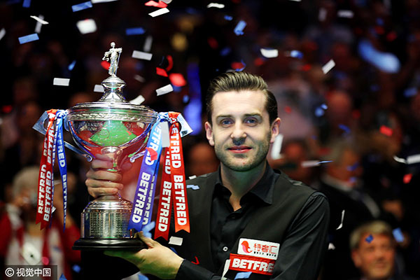 Selby beats Higgins to win third world snooker title - Sports ...