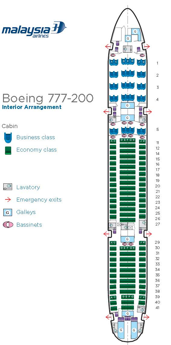 Boeing 777-200 Seat Map Boeing 777 200 interior seat map   World   Chinadaily.com.cn Boeing 777-200 Seat Map