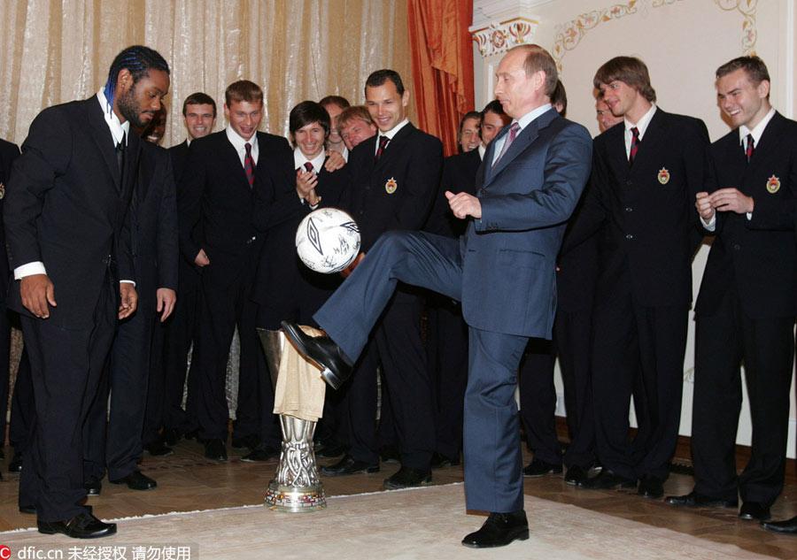 Politicians Put Best Soccer Feet Forward 4 Chinadaily Com Cn